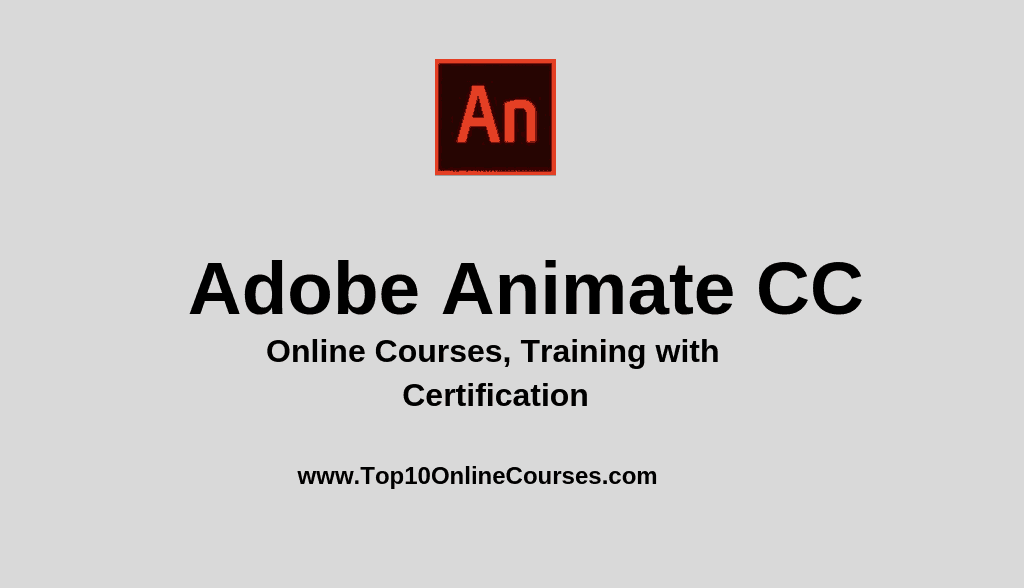 Best Adobe Animate CC Online Courses, Training with Certification