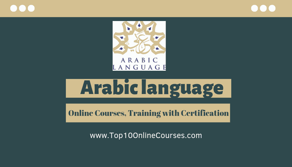 Arabic Online Courses, Training with Certification
