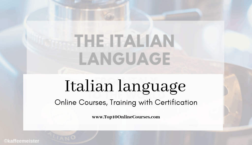 Italian Online Courses, Training with Certification