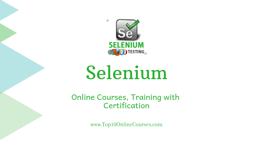 Selenium Online Courses, Training with Certification