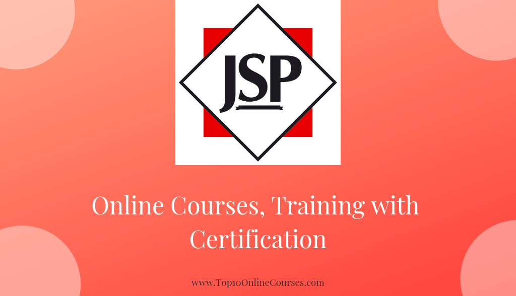 JSP-Java Server Pages Online Courses, Training with Certification
