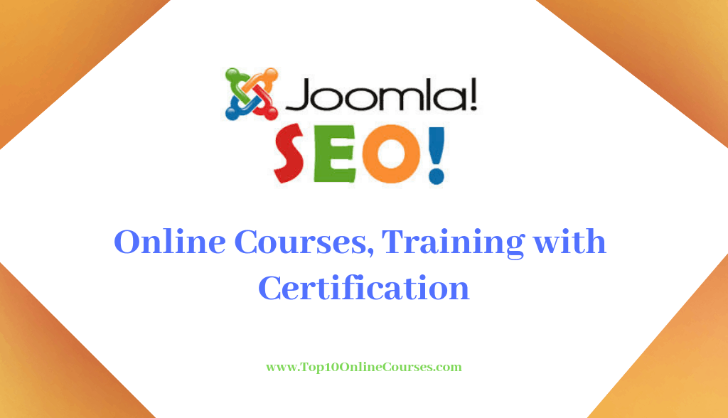 Joomla SEO Online Courses, Training with Certification