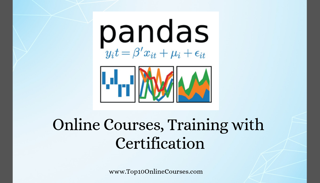 Pandas Online Courses, Training with Certification